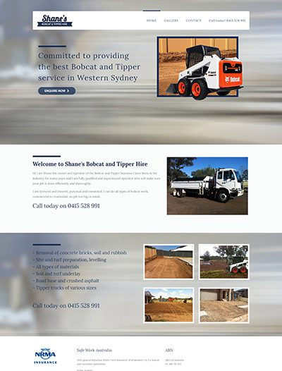 Shanes Bobcat and Tipper Hire